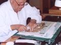 Restauro di un papiro nella Bibliotheca Alexandrina