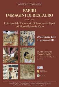 1-Locandina Papiri Immagini di restauro
