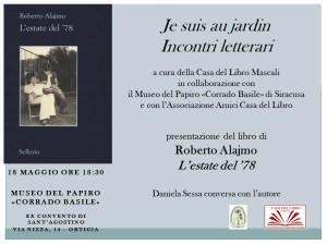 Presentazione del libro di Roberto Alajmo